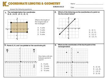 6.NS.8 and 6.G.3 Coordinate Lengths & Geometry