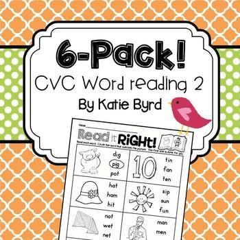 6-Pack! CVC Word Reading #2