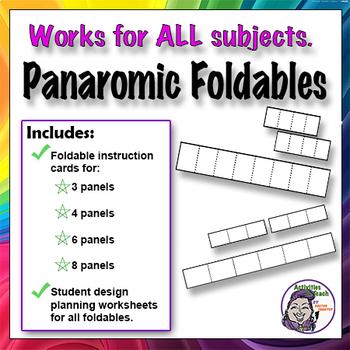 6 Panel Panoramic Foldable Graphic Organizer - Timeline Option