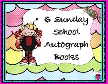 6 Sunday School Autograph Books