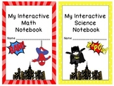 7 Superhero Themed Interactive Journal Covers and Tables o
