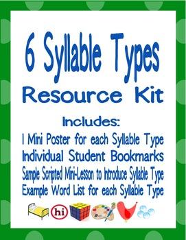 6 Syllable Types Resource Kit