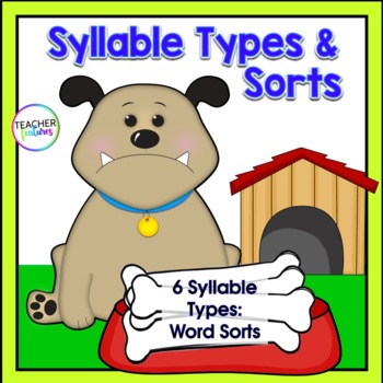 Syllable Types Sort: Dog Theme