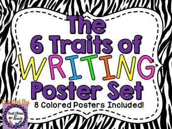 6 Traits of Writing Posters (Zebra)
