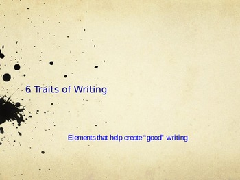 6 Traits of Writing Power Point