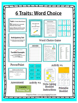 6 Traits of Writing: Word Choice Lesson