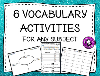 6 Vocabulary Activities for Any Subject