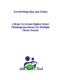 Higher Order Thinking Questions For Multiple Choice Exams