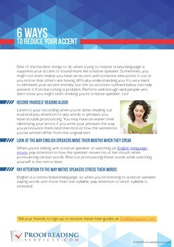 6 Ways to Reduce Your Accent