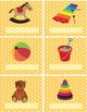 LABELS, TOY themed - editable - 4 pgs 4 different styles,