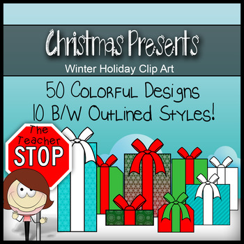 60 Christmas Gifts & Presents - Holiday Clipart {The Teach