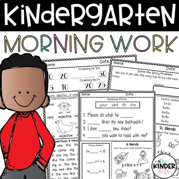 60 Days of Common Core Morning Work Part D: Kindergarten o