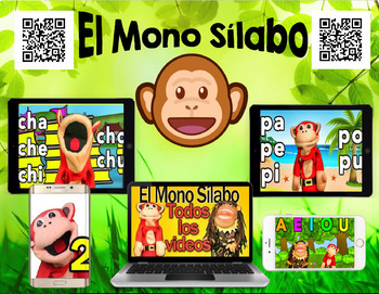 60 EL MONO SĺLABO Videos - QR Code Listening Stations – Es