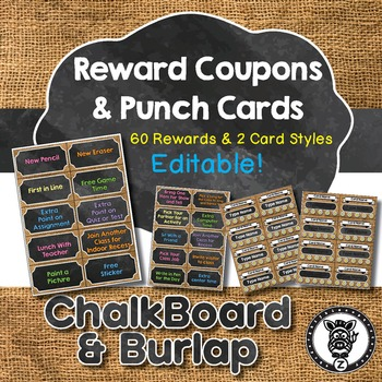 60 Reward Coupons & Punch Cards