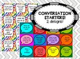 153 Conversation starter cards (2 sets) - great for social