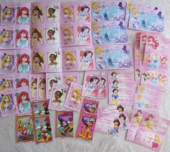 VALENTINES CARDS 62 DISNEY princess Snow White Cinderella