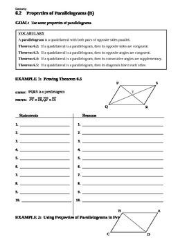 6.2 Properties of Parallelograms (B)