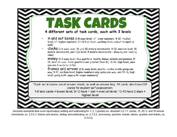 Money, Input/Output, Time & Frames & Arrows. 64 Task Cards