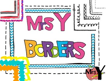 Borders! 65 White, Colored and Transparent