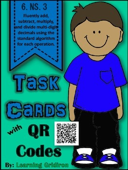 6.NS.3 QR Code Task Cards