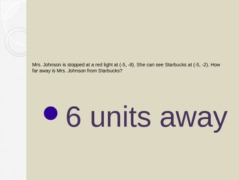 6.NS.8 Distance Between Coordinates Power Point