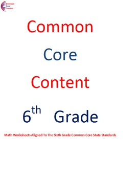 Ratios and Proportions 6.RP.A  Sixth Grade Common Core Mat