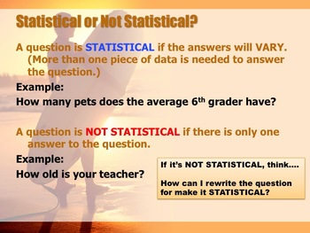 6.SP.1 Statistical Questions Bundle (2 Lessons)