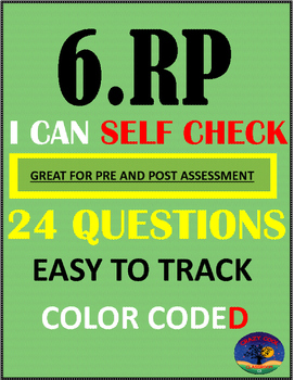 6TH GRADE RATIOS AND PROPORTIONAL REASONING (6.RP) TEST PREP