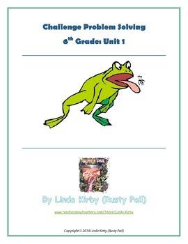 Math-6th Grade-Months 1-10: Challenge Problem Solving (Que
