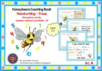 HANDWRITING CARDS:HONEYBEE'S COUNTING BOOK-VOL 6-COLORED P