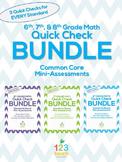 6th, 7th, and 8th Grade Math Common Core Quick Check Mini
