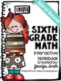 Sixth Grade Spiral Bound Full Year Interactive Notebook: T