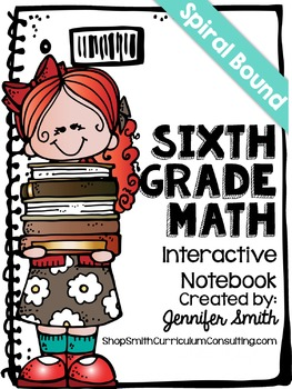 Sixth Grade Spiral Bound Full Year Interactive Notebook