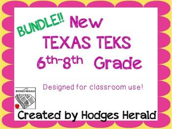 6th-8th Texas Standards-Bundle