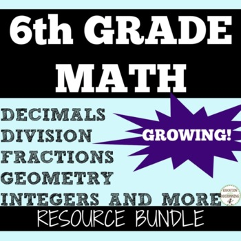 6th GRADE MATH Ultimate Teacher Resource Bundle SAVE 30%+