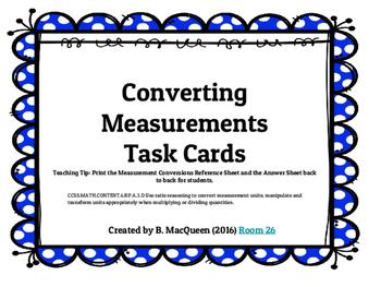 6th Grade 6.RP.3d Converting Measurements Task Cards (32 p