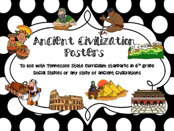 6th Grade Ancient Civilizations Posters