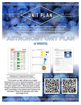 UNIT PLAN - 6th Grade Astronomy / Space (4 Weeks)