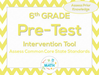 6th Grade Beginning of the Year Common Core Pre-Assessment