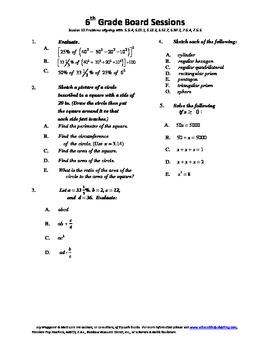 6th Grade Board Session 15,Common Core,Review.Math Counts,