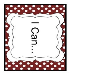 """6th Grade CCSS """"I Can"""" statements for the Writing and Lang"""