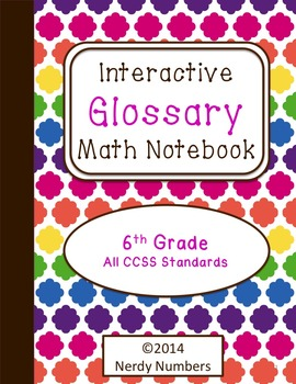6th Grade CCSS Math Vocabulary Frayer Model Interactive No