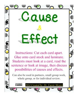 6th Grade Cause & Effect Task Cards