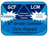 6th Grade Common Core Aligned GCF and LCM Bundle
