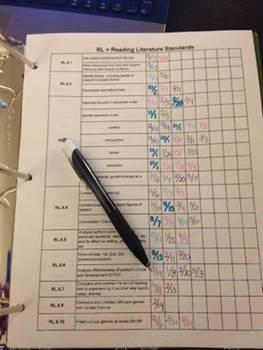 Checklist: Common Core Reading (grade 6)