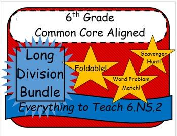 6th Grade Common Core Long Division Bundle