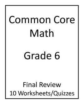 Printables Common Core 6th Grade Math Worksheets 6th grade common core math final review worksheets by jeni hall worksheets