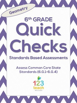 6th Grade Math Common Core Quick Check Mini Assessments (6