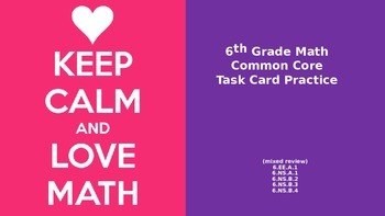 6th Grade Common Core Task Cards - Set 1 (with QR Code Scanners)