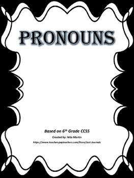 6th Grade ELA CCSS PRONOUN POSTERS